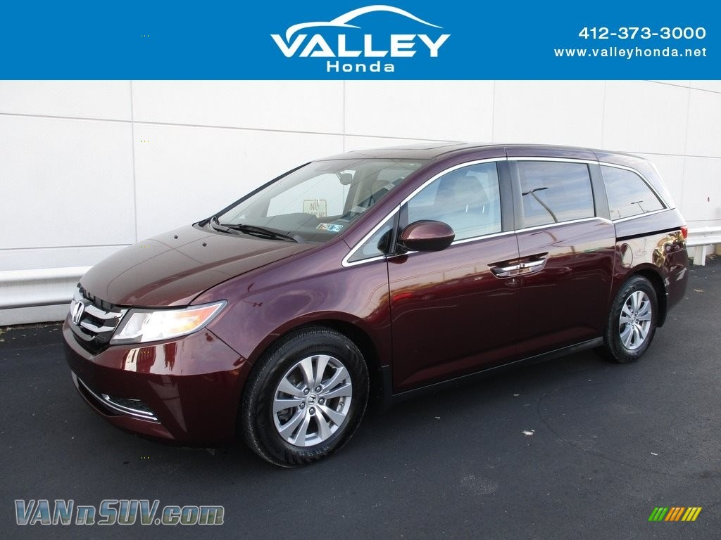 2014 Odyssey EX-L - Dark Cherry Pearl / Beige photo #1
