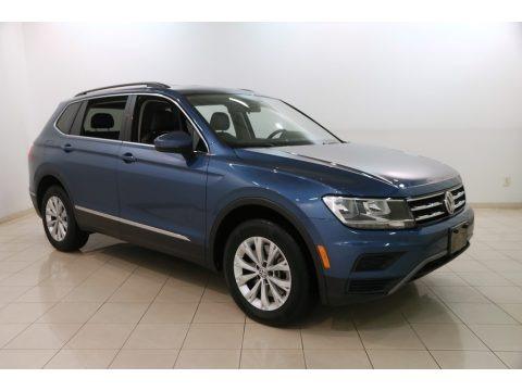 Silk Blue Metallic 2018 Volkswagen Tiguan SE 4MOTION