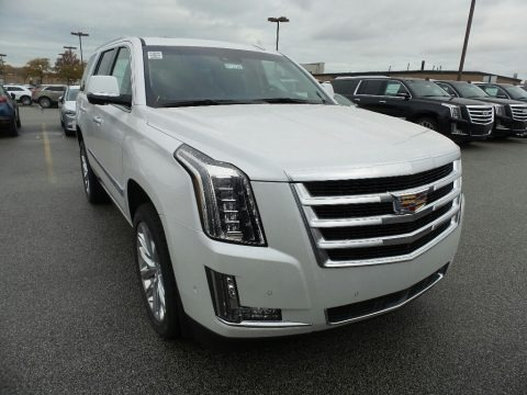 Crystal White Tricoat 2019 Cadillac Escalade Premium Luxury 4WD