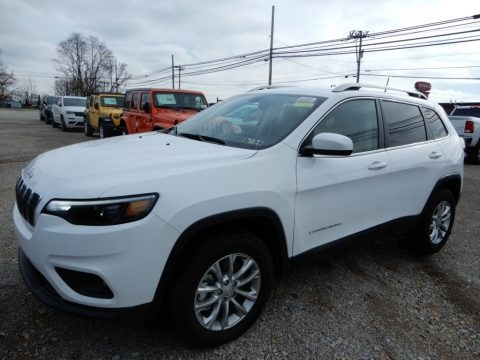 Bright White 2019 Jeep Cherokee Latitude 4x4