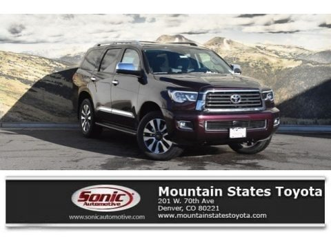 Sizzling Crimson Mica 2019 Toyota Sequoia Limited 4x4