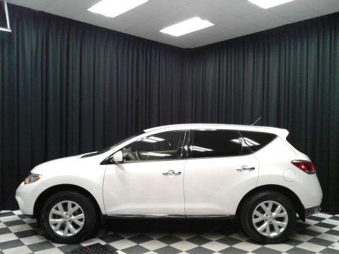 Pearl White 2013 Nissan Murano S AWD