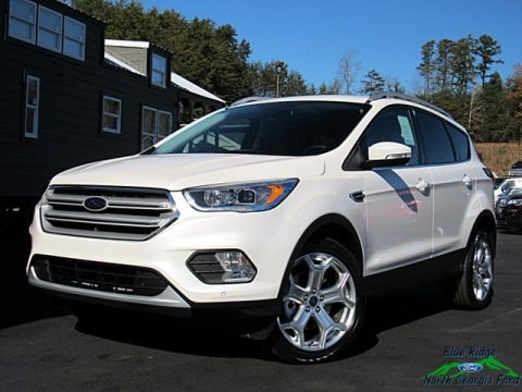White Platinum 2019 Ford Escape Titanium 4WD