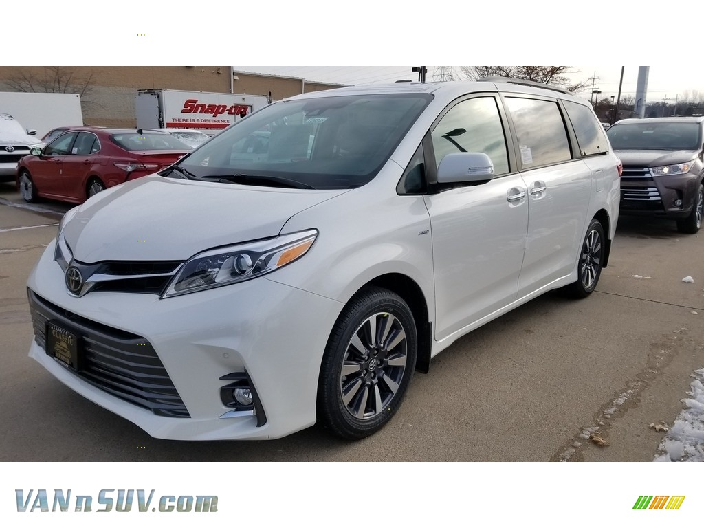 2019 Sienna Limited AWD - Blizzard Pearl White / Ash photo #1