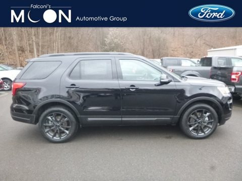 Agate Black 2019 Ford Explorer XLT 4WD