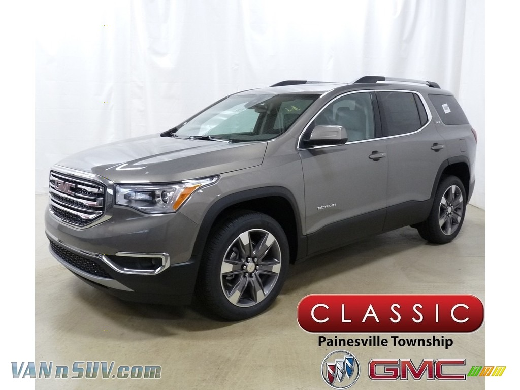 Pepperdust Metallic / Cocoa/Light Ash Gray GMC Acadia SLT AWD