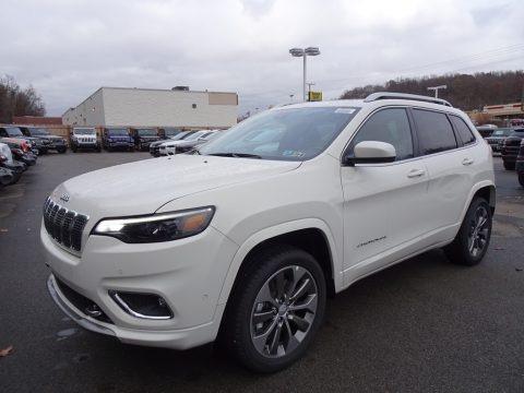 Pearl White 2019 Jeep Cherokee Overland 4x4
