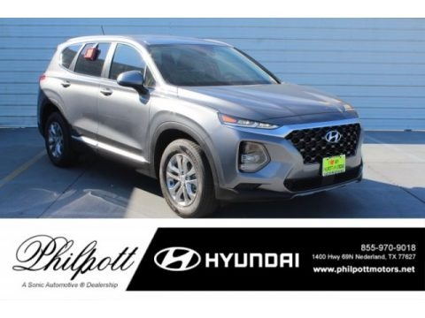 Machine Gray 2019 Hyundai Santa Fe SE