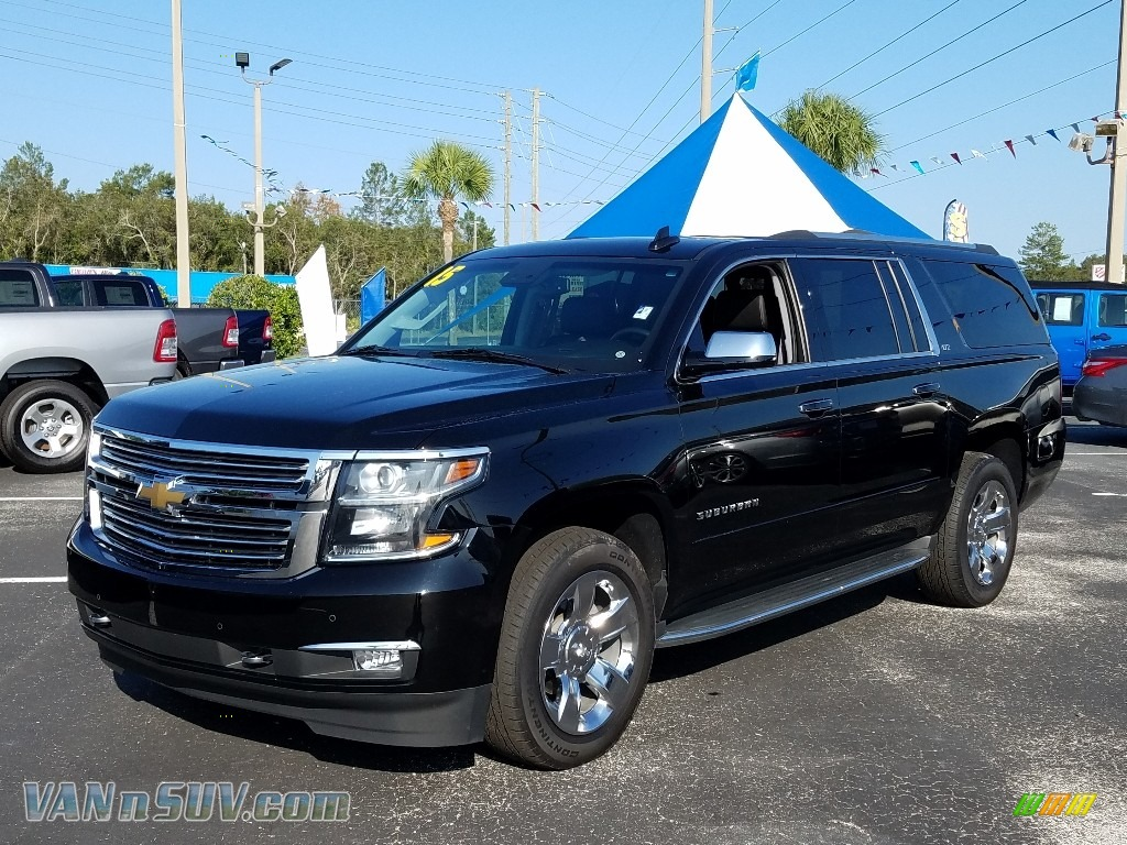 2015 Suburban LTZ 4WD - Black / Jet Black photo #1