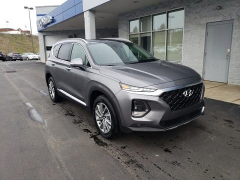 Machine Gray 2019 Hyundai Santa Fe Ultimate AWD