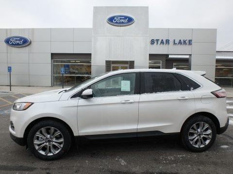 White Platinum 2019 Ford Edge Titanium AWD