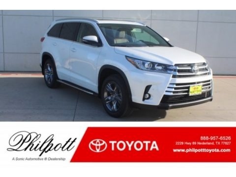 Blizzard Pearl White 2019 Toyota Highlander Limited Platinum