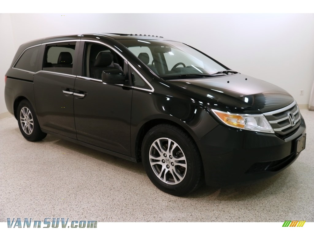 2011 Odyssey EX-L - Crystal Black Pearl / Truffle photo #1