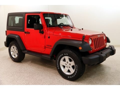 Flame Red 2014 Jeep Wrangler Sport 4x4