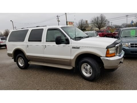 Oxford White 2001 Ford Excursion Limited 4x4