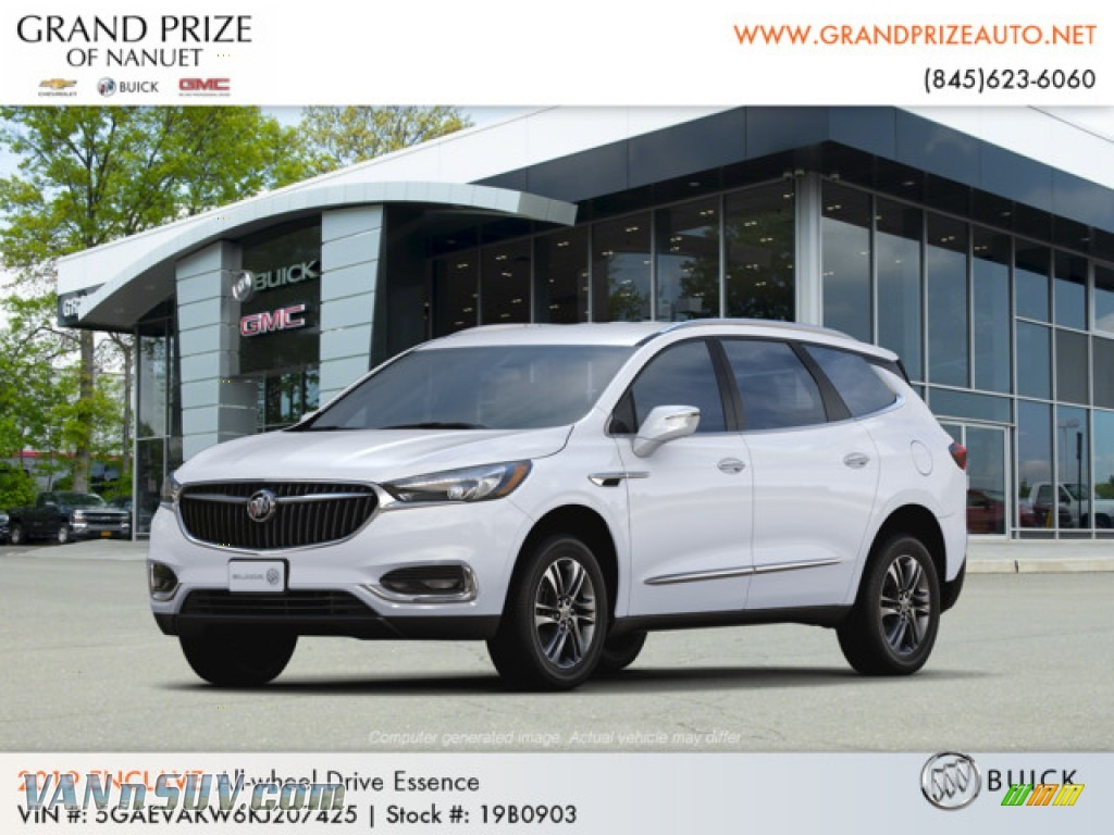 Summit White / Dark Galvanized/Ebony Accents Buick Enclave Essence AWD