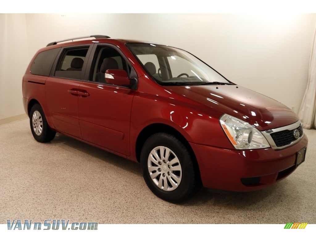 Claret Red / Gray Kia Sedona LX
