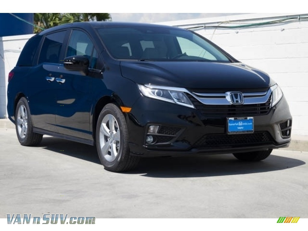 2019 Odyssey EX-L - Crystal Black Pearl / Gray photo #1