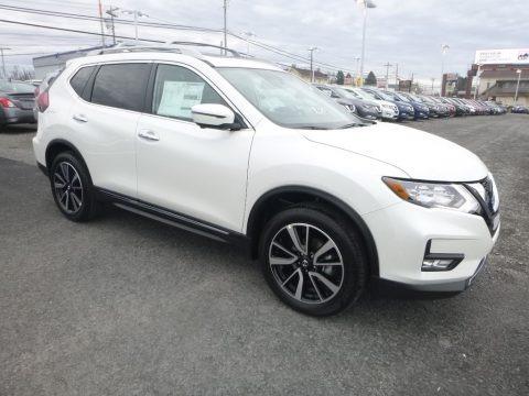 Pearl White 2019 Nissan Rogue SL AWD
