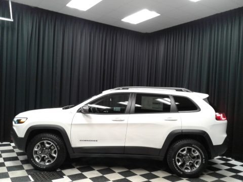 Pearl White 2019 Jeep Cherokee Trailhawk 4x4