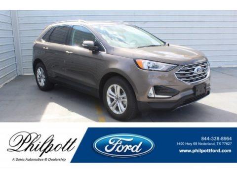 Stone Gray 2019 Ford Edge SEL