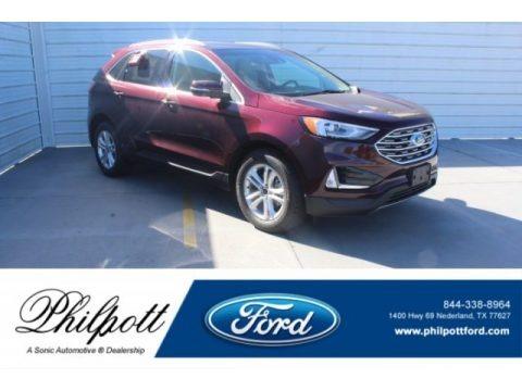 Burgundy Velvet 2019 Ford Edge SEL