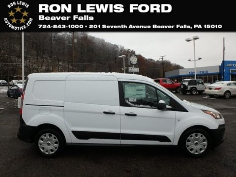 Frozen White 2019 Ford Transit Connect XL Van