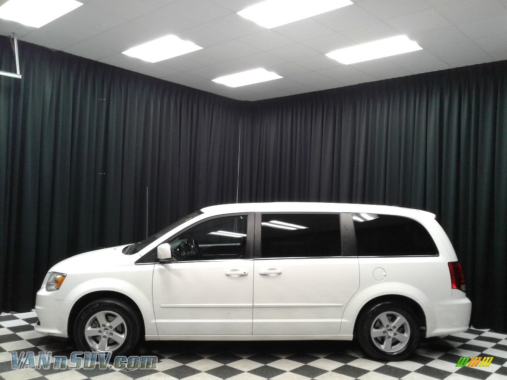 2012 Grand Caravan Crew - Stone White / Black/Light Graystone photo #1