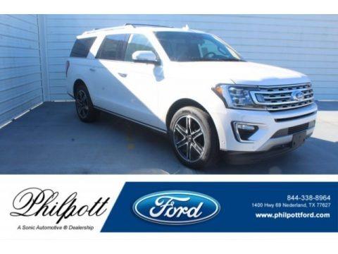 White Platinum Metallic Tri-Coat 2019 Ford Expedition XLT