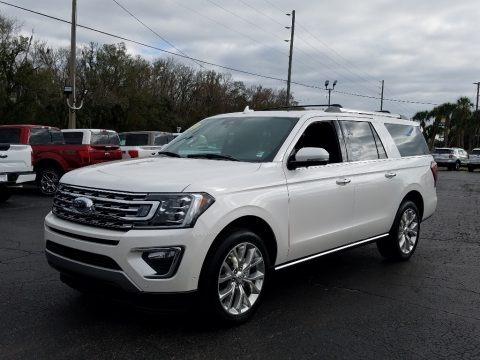 White Platinum Metallic Tri-Coat 2019 Ford Expedition Limited Max