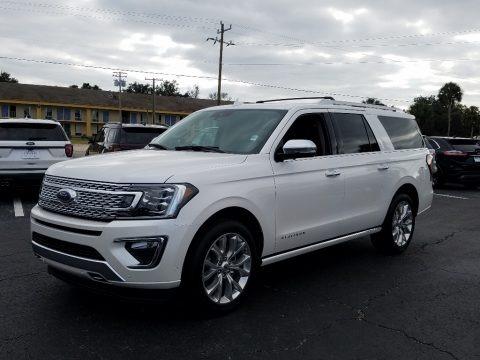 White Platinum Metallic Tri-Coat 2019 Ford Expedition Platinum Max 4x4