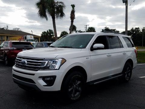 White Platinum Metallic Tri-Coat 2019 Ford Expedition XLT 4x4