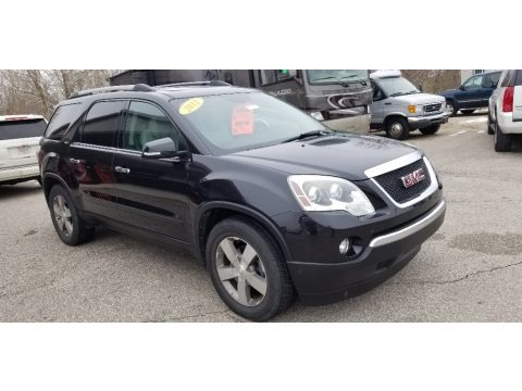 Carbon Black Metallic 2012 GMC Acadia SLT AWD