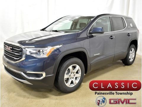 Blue Steel Metallic 2019 GMC Acadia SLE