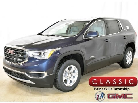 Blue Steel Metallic 2019 GMC Acadia SLE AWD