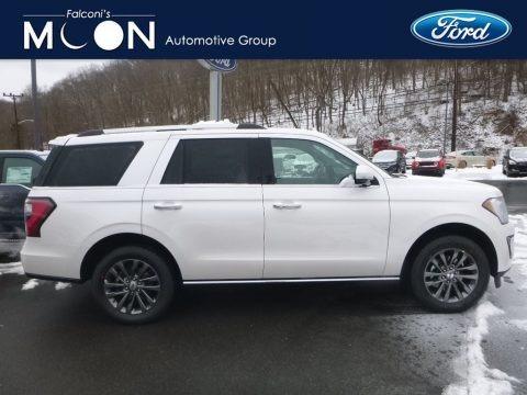 White Platinum Metallic Tri-Coat 2019 Ford Expedition Limited 4x4