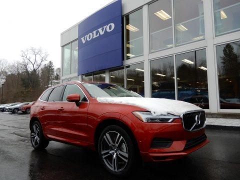 Fusion Red Metallic 2019 Volvo XC60 T6 AWD Momentum