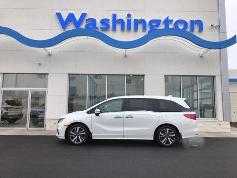 White Diamond Pearl 2019 Honda Odyssey Elite