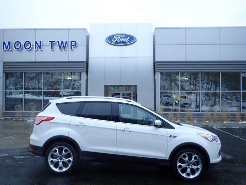 White Platinum Metallic 2016 Ford Escape Titanium 4WD