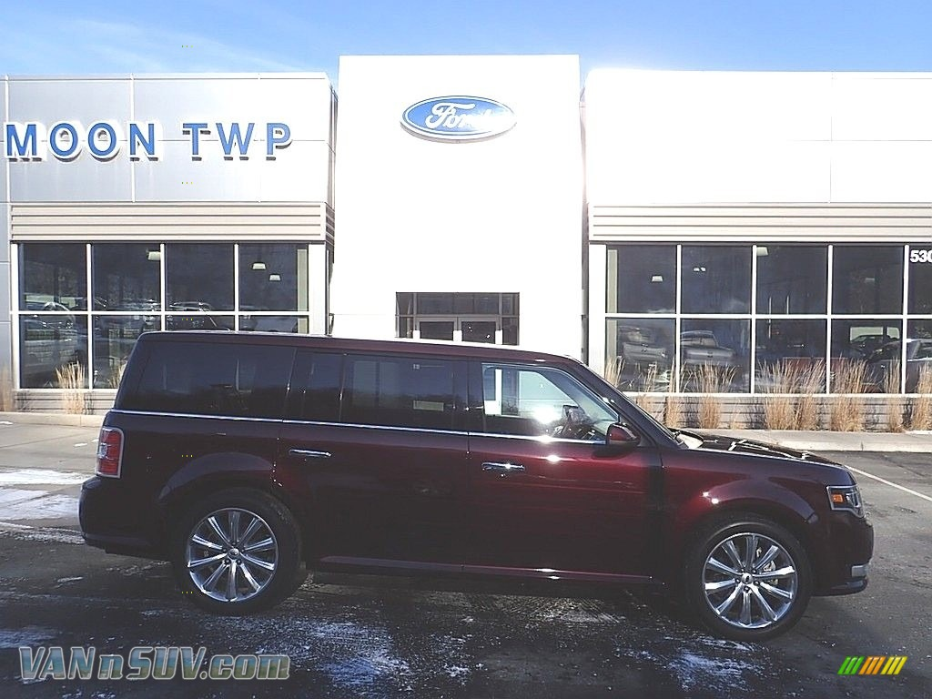 2019 Flex Limited AWD - Burgundy Velvet / Charcoal Black photo #1