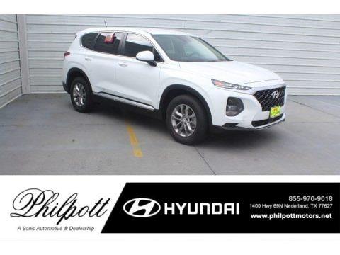 Quartz White 2019 Hyundai Santa Fe SE