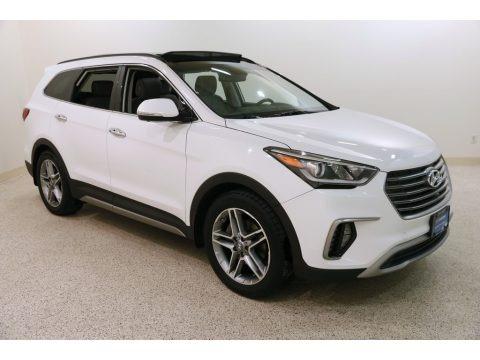 Monaco White 2017 Hyundai Santa Fe Limited AWD