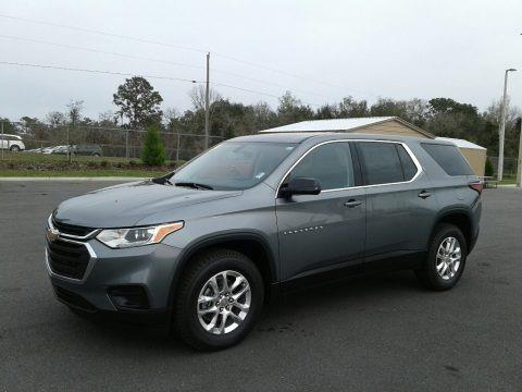 Satin Steel Metallic 2019 Chevrolet Traverse LS