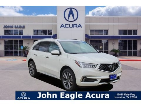 White Diamond Pearl 2019 Acura MDX Advance