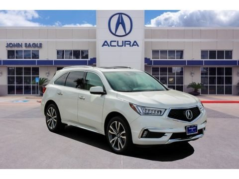 White Diamond Pearl 2019 Acura MDX Advance SH-AWD
