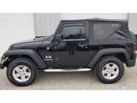 Black 2007 Jeep Wrangler X 4x4