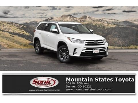 Blizzard Pearl White 2019 Toyota Highlander XLE AWD