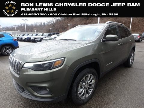 Olive Green Pearl 2019 Jeep Cherokee Latitude Plus 4x4