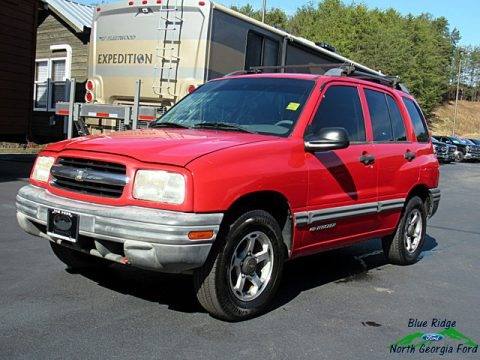 Wildfire Red 2000 Chevrolet Tracker 4WD Hard Top