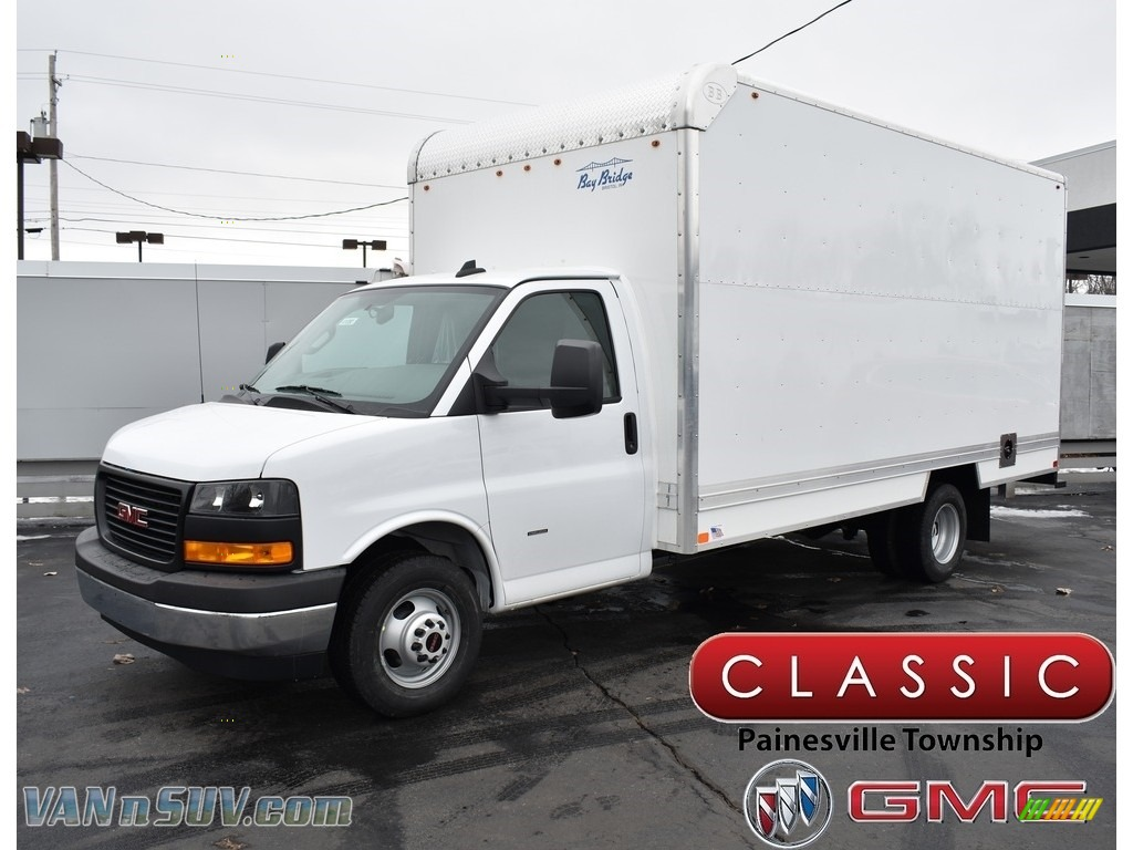 2019 Savana Cutaway 3500 Commercial Moving Truck - Summit White / Medium Pewter photo #1